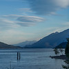River with mountain in the background, Kaslo, West Kootenay, British Columbia, Canada
