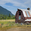 Barn in field, British Columbia, Canada