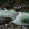 White rapids flowing through rocks, Riondel, British Columbia, Canada