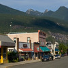 Stores at roadside, Kaslo, West Kootenay, British Columbia, Canada