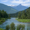 River flowing through forest, Nelson, British Columbia, Canada