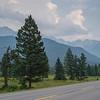 Road leading towards mountain, Brisco, British Columbia, Canada
