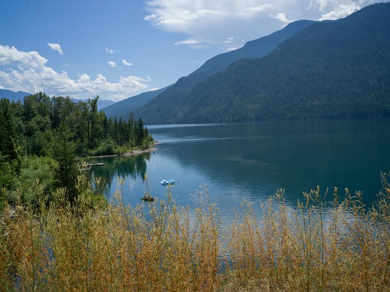 Scenic view of lake, Kootenay Lake, Silverton, British Columbia, Canada
