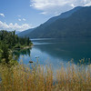 Scenic view of lake, Kootenay Lake, Silverton, British Columbia, Canada