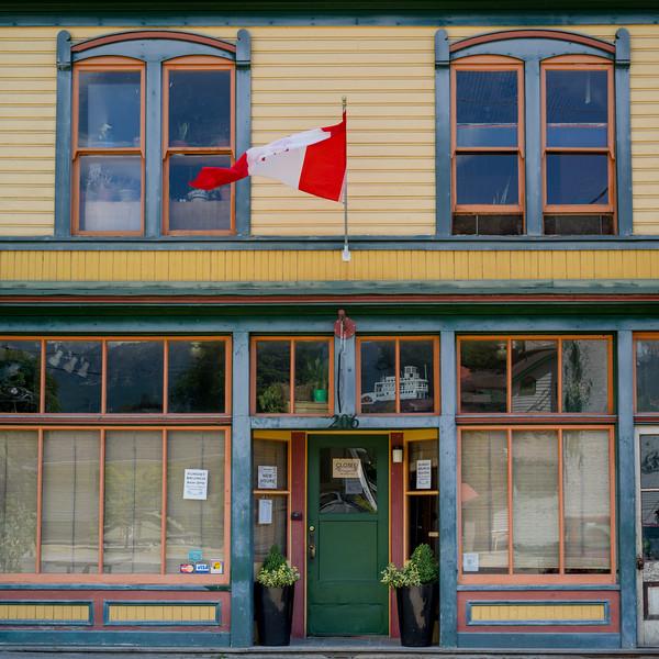 Faade of restaurant, Nelson, British Columbia