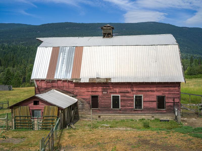 Barn in field, British Columbia, Canada