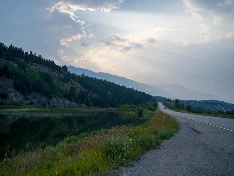 Road leading towards mountain, Invermere, British Columbia, Canada