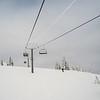 Overhead cable cars over a hill, Sun Peaks Resort, Sun Peaks, British Columbia, Canada