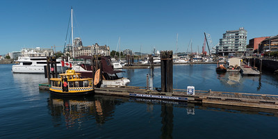 Boats at harbor, Inner Harbour, Victoria, Vancouver Island, British Columbia, Canada