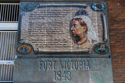 Queen Victoria Memorial Plaque at Fort Victoria, Victoria, Vancouver Island, British Columbia, Canada
