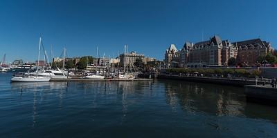 Boats at harbor, Victoria, Vancouver Island, British Columbia, Canada