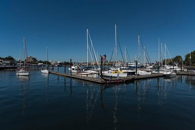 Boats at a harbor, Victoria, Vancouver Island, British Columbia, Canada
