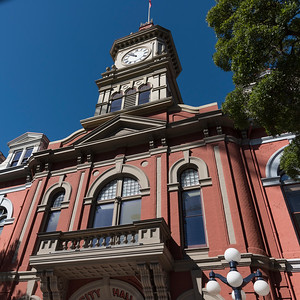 Low angle view of City Hall, Victoria, Vancouver Island, British Columbia, Canada