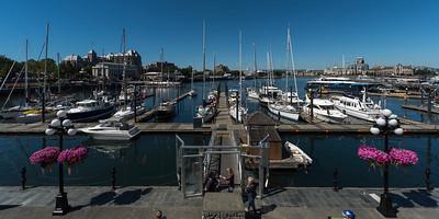 Boats in the harbor, Victoria, Vancouver Island, British Columbia, Canada
