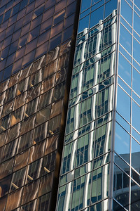 Modern glass building in downtown, Vancouver, British Columbia, Canada