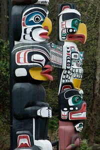 Totem poles at Stanley Park, Vancouver, British Columbia, Canada