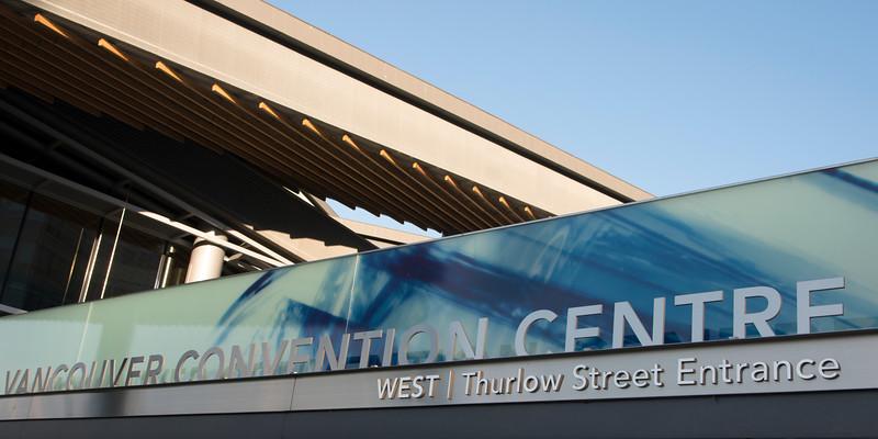 Vancouver Convention Centre Sign, Vancouver, British Columbia, Canada