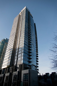 Skyscraper in downtown, Vancouver, British Columbia, Canada