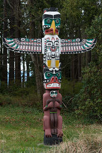 Totem pole at Stanley Park, Vancouver, British Columbia, Canada