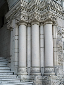 Architectural details at the entrance of Victoria Legislature Building, Victoria, British Columbia, Canada