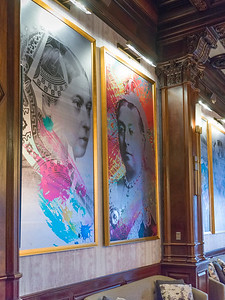 Paintings of Queen Victoria in the Fairmont Empress Hotel, the Empress Hotel, the empress, Victoria, British Columbia, Canada