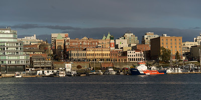 Buildings at waterfront, Vancouver island, Victoria, British Columbia, Canada