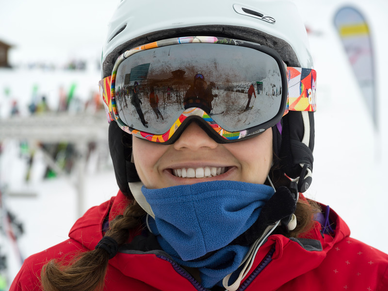 Close-up of a happy skier, Whistler, British Columbia, Canada