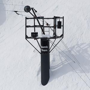 Ski station on mountain in winter, Whistler, British Columbia, Canada