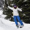 Skier practicing, Whistler, British Columbia, Canada