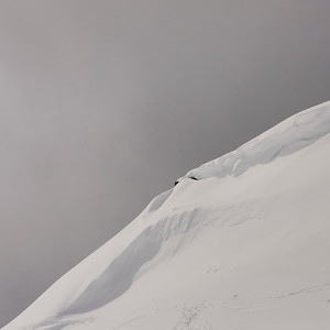 Snow covered hill in winter, Whistler Mountain, British Columbia, Canada