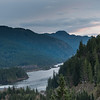 River flowing through mountains, Brandywine Falls Provincial Park, Whistler, British Columbia, Canada