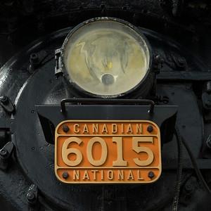 Close-up of steam train engine, Jasper National Park, Jasper, Alberta, Canada