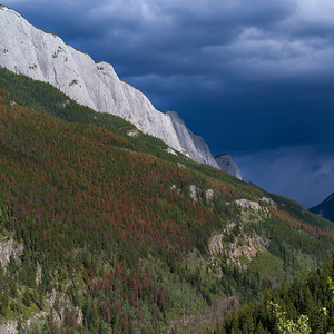 Low angle view of clouds over mountains, Yellowhead Highway, Jasper National Park, Jasper, Alberta, Canada