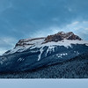 Snow covered landscape with mountains in winter, Emerald Lake, Yoho National Park, British Columbia, Canada