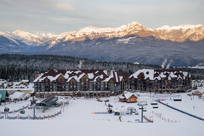 View of a ski resort,  Kicking Horse Mountain Resort, Golden, British Columbia, Canada