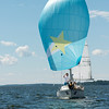 Sailboat in a lake, Lake of The Woods, Kenora, Lake of The Woods, Ontario, Canada