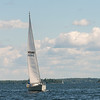 Sailboat in a lake, Lake of The Woods, Ontario, Canada
