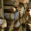Stack of firewood, Lake of The Woods, Ontario, Canada