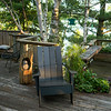 Adirondack chair on a deck, Lake of The Woods, Ontario, Canada