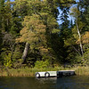 Dock in a lake, Kenora, Lake of The Woods, Ontario, Canada