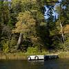 Dock in a lake, Kenora, Lake of The Woods, Ontario, Canada