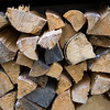 Close-up of firewood, Kenora, Lake of the Woods, Ontario, Canada