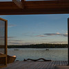 Covered deck, Kenora, Lake of the Woods, Ontario, Canada