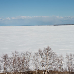 Frozen lake in winter, Lake Winnipeg, Riverton, Hecla Grindstone Provincial Park, Manitoba, Canada