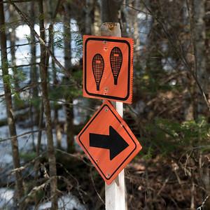 Closeup of a signboards, Riverton, Hecla Grindstone Provincial Park, Manitoba, Canada