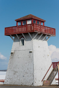 Lighthouse at the lakeside, Lake Winnipeg, Hecla Grindstone Provincial Park, Manitoba, Canada