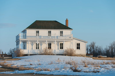 Facade of a house, Riverton, Hecla Grindstone Provincial Park, Manitoba, Canada