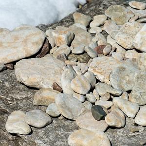 Closeup of pebbles, Hecla Grindstone Provincial Park, Manitoba, Canada