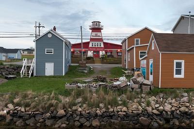 Houses in fishing village, Cheticamp, Cabot Trail, Cape Breton Island, Nova Scotia, Canada