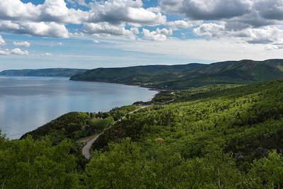 Scenic view of a coastal road, Pleasant Bay, Cape Breton Highlands National Park, Cape Breton Island, Nova Scotia, Canada